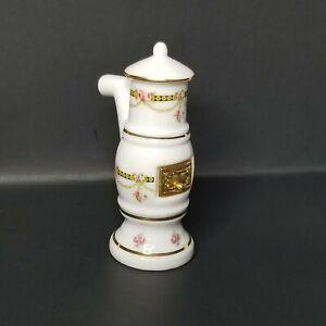 Dollhouse Miniature 1:12 Scale Dresden Rose Porcelain Stove by Reutter Rare