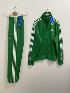 Adidas Originals Adicolor Classics Firebird Tracksuit Green White Size XL