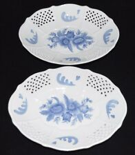 (2) Home Interiors 2002 Footed Platter Bowls