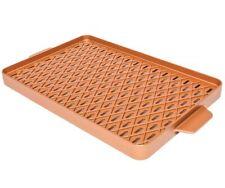 """Copper Chef Copper Barbecue Grill Pan Griddle 12"""" X 18"""" X Design Non Stick Pan"""