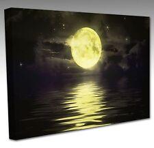 GRANDE 16x12 pollici gigante giallo luna acqua con struttura a muro arte foto stampa