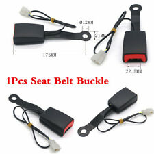 "Camlock 7/8"" Car Front Seat Belt Lock Buckle Socket Plug Connector&Warning Cable"