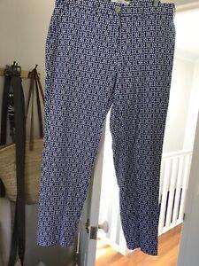 Brax Maron Cotton pants - Blue/white-German Size 44 (16-18)-NEW