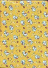 1930s Reproduction fabric for quilt tops, blocks Playful Kittens -Balls! Btyard