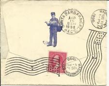 US Illustrated LETTER CARRIER Washington D.C.AUG/10/1896 Flag Cancel