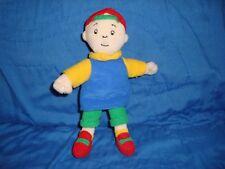 """Caillou Small Plush & Beans Doll 7"""" Tall 2001 Cinar"""