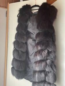 Pelz Weste Echtfell Fur Vest  Coat Black Schwarz Gebraucht