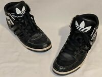 Adidas Hard Court II Men's 12 High Top Black White Sneakers