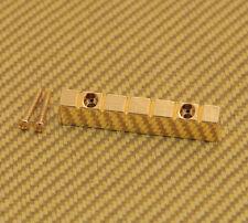 NUT-N-2GD Gold 6-string Lap Steel Style Raised Guitar Nut w/ Screws 47mm