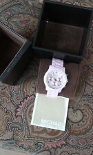 Michael Kors Runway MK5161 Wrist Watch for Women White Ceramic come with box