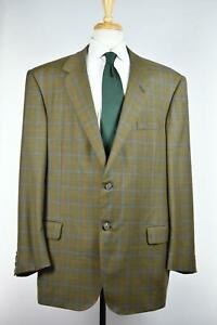 Oxxford Clothes Mens Bespoke 2-BTN FEELS LIKE Super 180s Wool Suit 50 L $6000