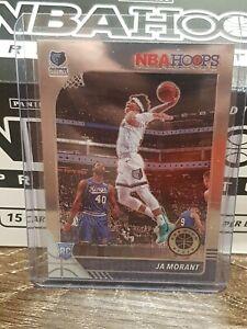 2019-20 NBA Hoops Premium Stock Ja Morant Rookie Base