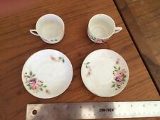 2 CHINA CUPS AND SAUCER - MADE IN OCCUPIED JAPAN