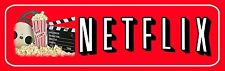 "Netflix Aluminum Movie Sign for Home Theater 13.5"" x 4"""