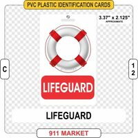 Lifeguard PVC ID Card Badge Water Rescue Guard Identification Plastic Pool  C 17
