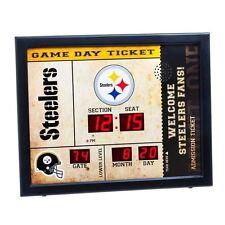 Pittsburgh Steelers scoreboard LED clock bluetooth speaker date time 20x2x16