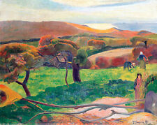 Landscape from Bretagne by Paul Gauguin 60cm x 48cm High Quality Art Print