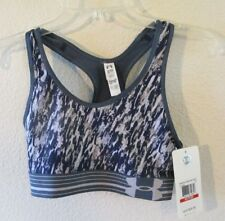 NWT Under Armour Womens Armour Mid Printed Sports Bra XS Green/Black MSRP$30