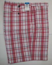 Haggar Mens Cool 18 Red Plaid Flex Waist Golf Shorts Size 44W NEW $50
