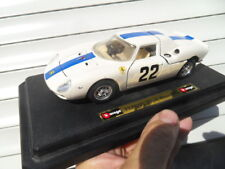 Vintage toys voiture BURAGO 1/24 sur socle FERRARI 250 LM MONZA 1966