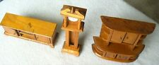 Vintage Homemade Doll House Furniture-Grandfather Clock-Buffet-Cabinet