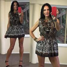 SAMLIN gorgeous LEOPARD frill ruffle TOP L fits au 12 longer blouse NWOT cheetah