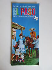 EL PASO TEXAS Exciting International City On Colorful Mexican Border Brochure
