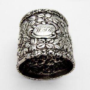 Stieff Rose Napkin Ring Baltimore Sterling Silver 1892 WSE