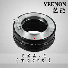 【YEENON】Exakta EXA  lens to SONY E-MOUNT  body Helicoid Adapter(macro)Black