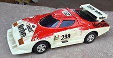 1970's Vintage Batterie Fonctionne LANCIA MARLBORO 298 Course Jouet Voiture,