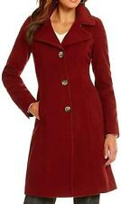 New Anne Klein Red Wool Cashmere Blend Coat US Size 10 NWT
