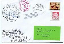 1995 MS World Discoverer Captain Point Hope Alaska PAQUEBOT Polar Cover SIGNED