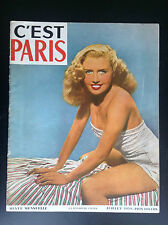 Ancienne revue C'est Paris magazine N° 6 1950 Nu érotisme
