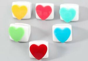 Colorful Heart Love Hearts Chunky Plastic Resin Block Statement Ring 90s Y2K NEW