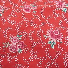 Cyrus Clark designer fabric Generous 50 X 52 Red Floral