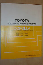 TOYOTA COROLLA 4WD OEM SHOP FACTORY ELECTRICAL WIRING DIAGRAMS MANUAL 1987/88>