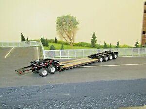 Dcp black tri axle Fontaine Magnitude lowboy w/jeep&4th flip new no box 1/64
