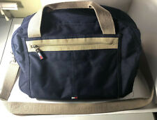 Tommy Hilfiger Weekender Travel Carry On Shoulder Duffle Bag Navy & Canvas