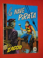 ZAGOR- NO ZENITH- N°65-originale DA LIRE 350 -1975 **NOME ROSSO-GALLIENO FERRI