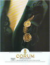 ▬► PUBLICITE ADVERTISING AD Montre Watch CORUM Montre-monnaie 1985