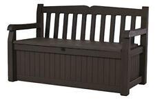 Keter 213126 Eden 70 Gallon All Weather Outdoor Patio Storage Garden Bench Deck