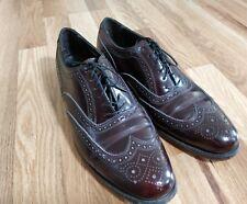 Men's Shoes FLORSHEIM Oxford SZ 9 1/2 D Burgundy Leather WING TIP Flexible Sole