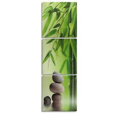 3Pcs Zen Bamboo Stone HD Picture Painting Modern Art Wall Decor Unframed