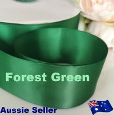 Forest Green double side satin ribbon 50mmx91 M (100Y) for car & Invitation