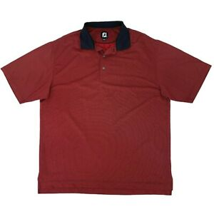 FootJoy Golf Polo Shirt Mens Size XL Red Short Sleeve Quick Dry Athletic Stretch