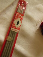 vintage 4 aiguilles n°4  à tricoter ARIEL made in France  30 cm ancienne