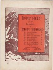 Impression; No 6 Eastern Dance, 1924, vintage sheet mus