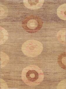 4x6 Circle Design Gabbeh Kashkoli Modern Oriental Area Rug Hand-knotted Carpet