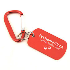 Pet ID Emergency Key Tag with Carabiner, Pet Wallet Card & Self-Laminating Pouch