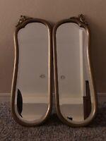 Antique Mirror Pair